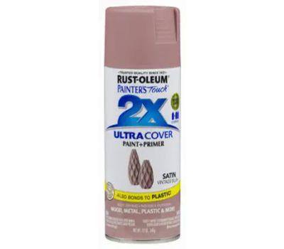 Rust-Oleum 299887 Painters Touch 2X Ultra Cover Paint + Primer Vintage Blush Satin Spray