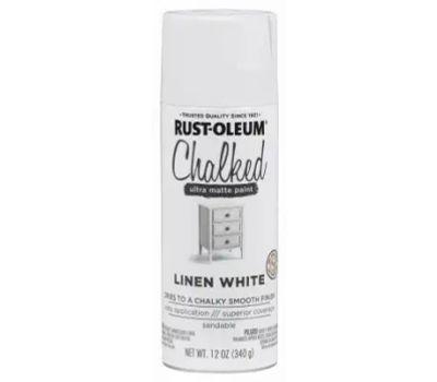 Rust-Oleum 302591 Chalked Linen White Chalked Finish 12 Ounce