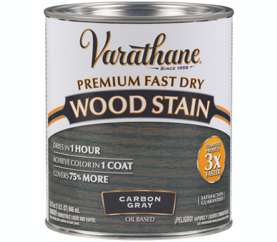 Varathane 307416 Stain Wood Int Carbon Gray 1/2