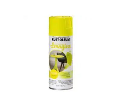 Rust-Oleum 354001 Imagine Craft & Hobby Spray Paint, Neon, Yellow, 11 Ounce