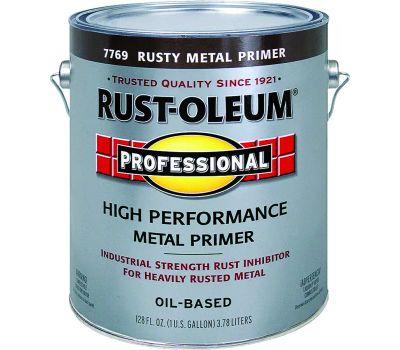Rust-Oleum 7769402 Professional Flat Red Rusty Metal Primer Gallon