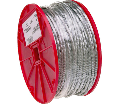 Campbell Chain 7000827 Uncoated Cable 1/4 Inch By 250 Foot Galvanized Steel