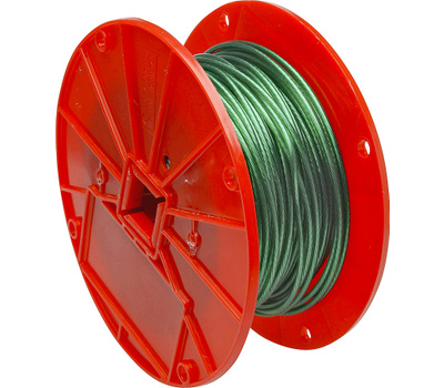 Campbell Chain 7000197 Steel Cable 1/16 Vinyl Coated To 1/8 Inch By 250 Foot Galvanized Green