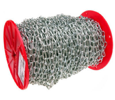 Campbell Chain 0724627 Double Loop Chain 4/0 By 100 Foot Zinc Plated Steel