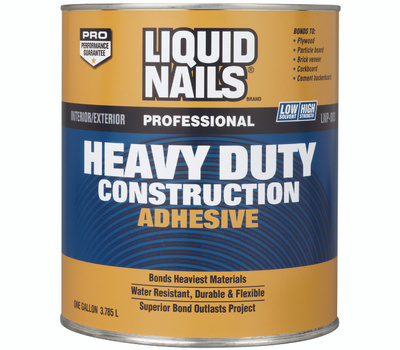 Liquid Nails LN-903G -1gal Construction Adhesive, Tan, 1 Gal Can
