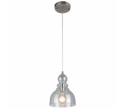 Westinghouse 61007 00 Indoor Adjustable Mini Pendant, 1-Lamp, Brushed Nickel Fixture