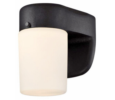 Westinghouse 61067 00 Wall Fixture With Dusk-to-Dawn Sensor, 120 V, 8 W, Led Lamp, 278 Lumens, Black Fixture