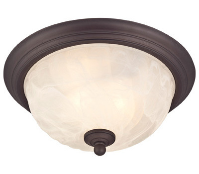 Westinghouse 62309 Outdoor Indoor Ceiling Fixture 2 Light Bronze