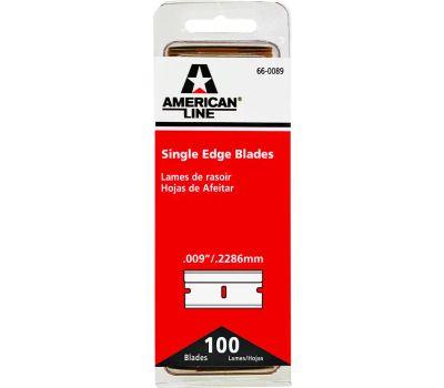 Accutec Blades 66-0089 American Line #9 Razor Blades Single Edge High Carbon Surgical Steel