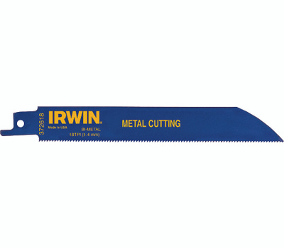 Irwin 372618P5 Weld Tech 6 Inch 18 Tooth Reciprocating Saw Blade