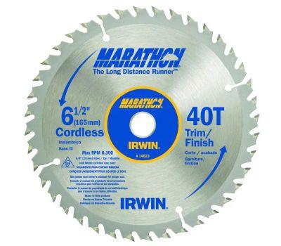 Irwin 14023 Marathon 6-1/2 Inch Trim Finish Circular Saw Blade 40 Tooth