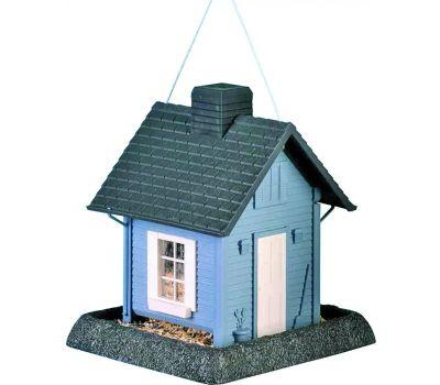 North States 9085W 9085 Wild Bird Feeder, Cozy Cottage, 5 Pound, Plastic, Blue/Gray, 11-1/2 in H, Pole Mounting