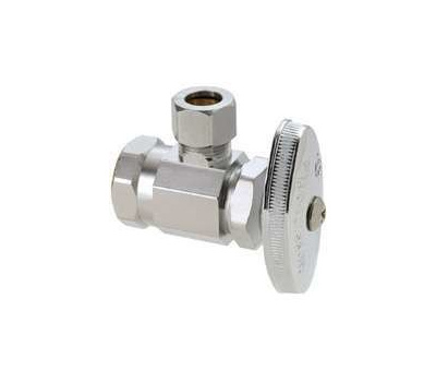 Brass Craft OR17X C1 Plumb Shop Angle Valve 1/2 Inch Female Iron Pipe X 3/8 Inch Compression