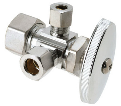 Brass Craft CR1900RX C1 Plumb Shop Dual Outer Valve 1/2 Inch Nominal 3/8 Inch Outer Diameter Compression