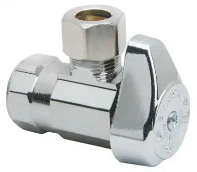 Brass Craft G2R17X CD Plumb Shop 1/2 Inch X 3/8 Inch Angle Stop