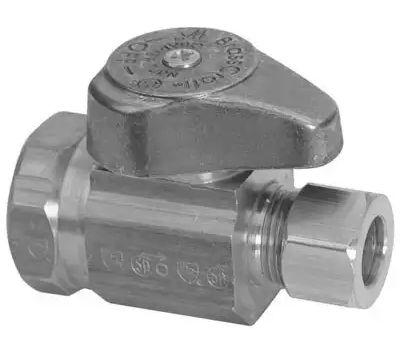 Brass Craft G2R12X CD Plumb Shop 1/2 Inch X 3/8 Inch Straight Stop