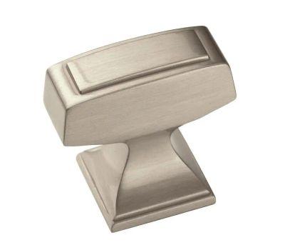 Amerock BP53029G10 Mulholland Traditional Squared 1-1/4 Inch Cabinet Knob Satin Nickel