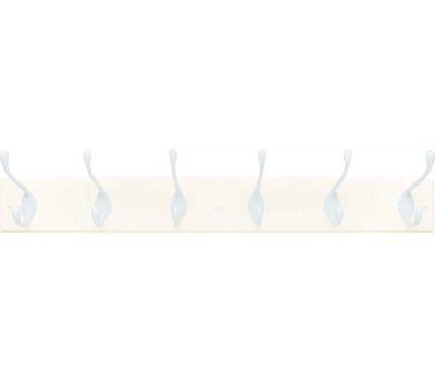 Amerock 2000325 Classic Hook Rack 27 Inches White Backing 6 White Hooks