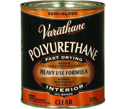 Varathane 6041H Clear Semi Gloss Premium Polyurethane Quart Oil Based