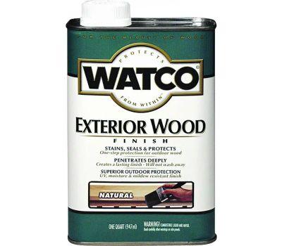Watco 67741 Natural Exterior Wood Finish Quart