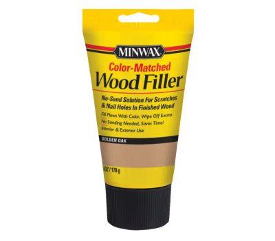 Minwax 448510000 Interior Exterior Wood Filler Golden Oak 6 Ounce