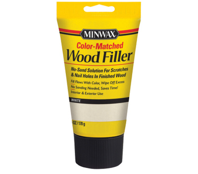 Minwax 448540000 Interior Exterior Wood Filler White 6 Ounce