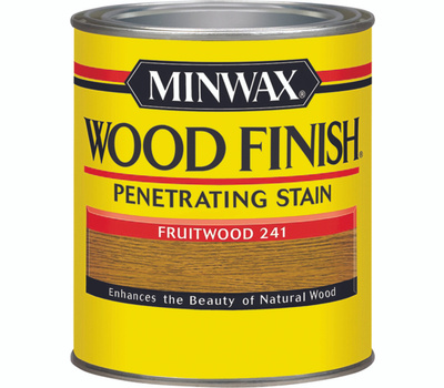 Minwax 70010 Fruitwood Wood Finish Penetrating Stain Quart Oil Based