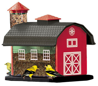 Woodlink 23960 Red Barn Combo Feeder