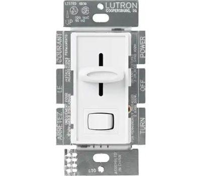 Lutron S-603PH-WH Skylark White 3 Way Preset Slide Dimmer