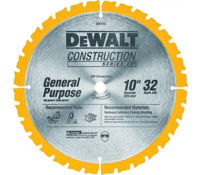 DeWalt DW3103 10 Inch 32 Tooth Circular Saw Blade