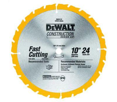 DeWalt DW3112 10 Inch 24 Tooth Thin Kerf Blade