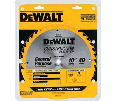DeWalt DW3114 10 Inch 40 Tooth Thin Kerf Blade