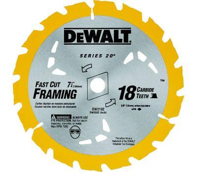DeWalt DW3592B10 7-1/4 Inch 18 Tooth Carbide Blade