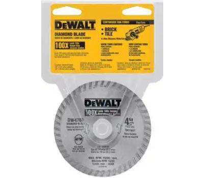 DeWalt DW4700 4 Inch Dry Cut Diamond Saw Blade