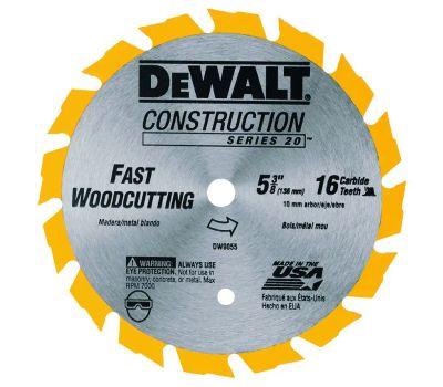 DeWalt DW9055 5-3/8 Inch 16 Tooth Frame Circular Saw Blade