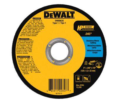 DeWalt DW8063 Wheel Cut Thin Mtl 5x7/8in