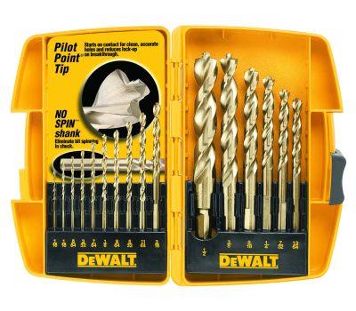 DeWalt DW1956 16 Piece Pilot Point Drill Bit Set