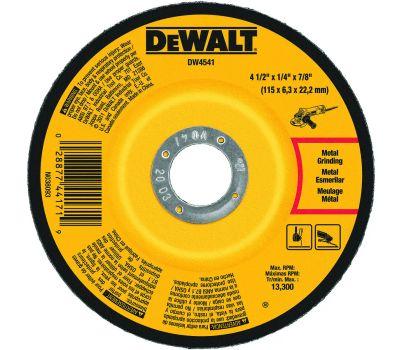 DeWalt DW4541 Grinding Wheel, 4-1/2 in Dia, 1/4 in Thick, 7/8 in Arbor, 24 Grit, Aluminum Oxide Abrasive
