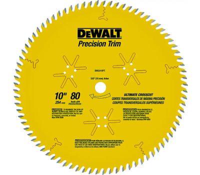 DeWalt DW3218PT 10 Inch Precision Trim Blade 80 Tooth