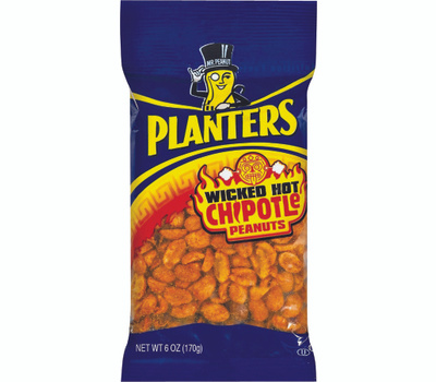 Kraft 483280 Planters Peanut, Wicked Hot Chipotle Flavor, 6 Ounce Bag