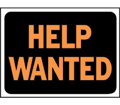 Hy Ko 3034 Hy-Ko 9 Inch By 12 Inch Plastic Help Wanted Sign