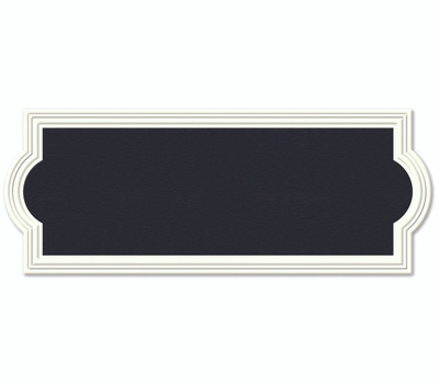 Hy Ko AK-461 Prestige Series 6-1/4 Inch By 15-3/4 Inch Off White Reversible Rectangular Address Plaque