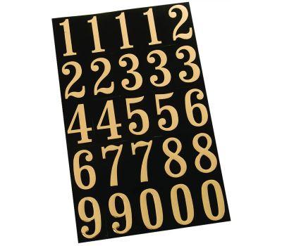 Hy Ko MM-3N Hy-Ko 2 Inch Gold Embossed On Black Number Set