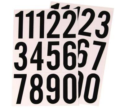 Hy Ko MM-4N Black On White 3 Inch Vinyl Number Set