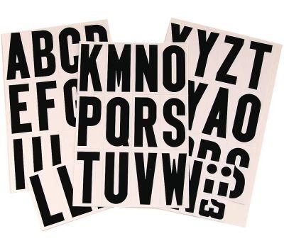 Hy Ko MM-4L Hy-Ko 3 Inch Black On White Vinyl Letter Set