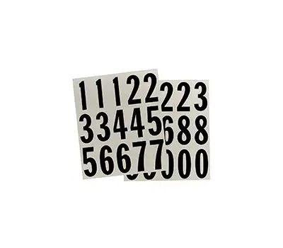 Hy Ko MM-22N Hy-Ko Self-Adhesive Reflective Number Set 2 Inch