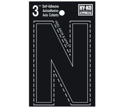 Hy Ko 30424 Hy-Ko 3 Inch Black Adhesive Vinyl Die Cut Letter N
