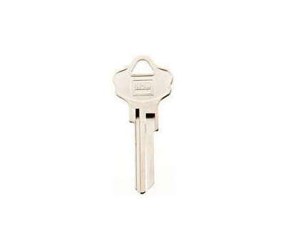 Hy Ko 11050KW10 Kwikset Key Blank With Color Dipped Head, Brass, Nickel Plated