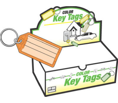 Hy Ko KB143-100 Hy-Ko Easy Open Key Tag With Ring