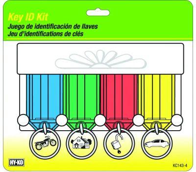 Hy Ko KC143-4 Hy-Ko Key Id Tag Kits 4 Tag With Rack